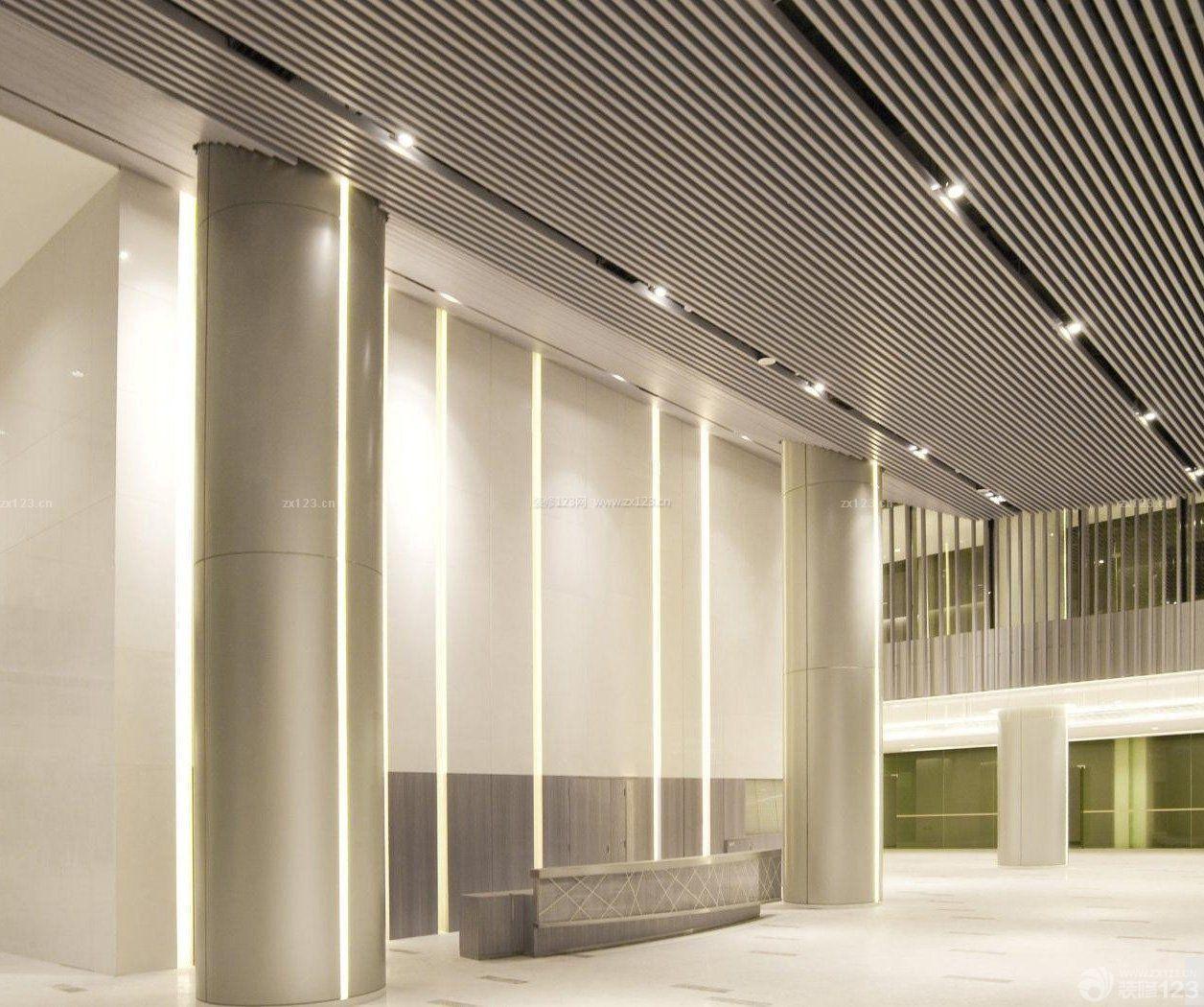 写字楼大堂柱子设计效果图图片