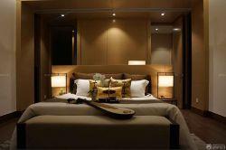 110平米房子中式臥室床頭背景墻裝修圖片