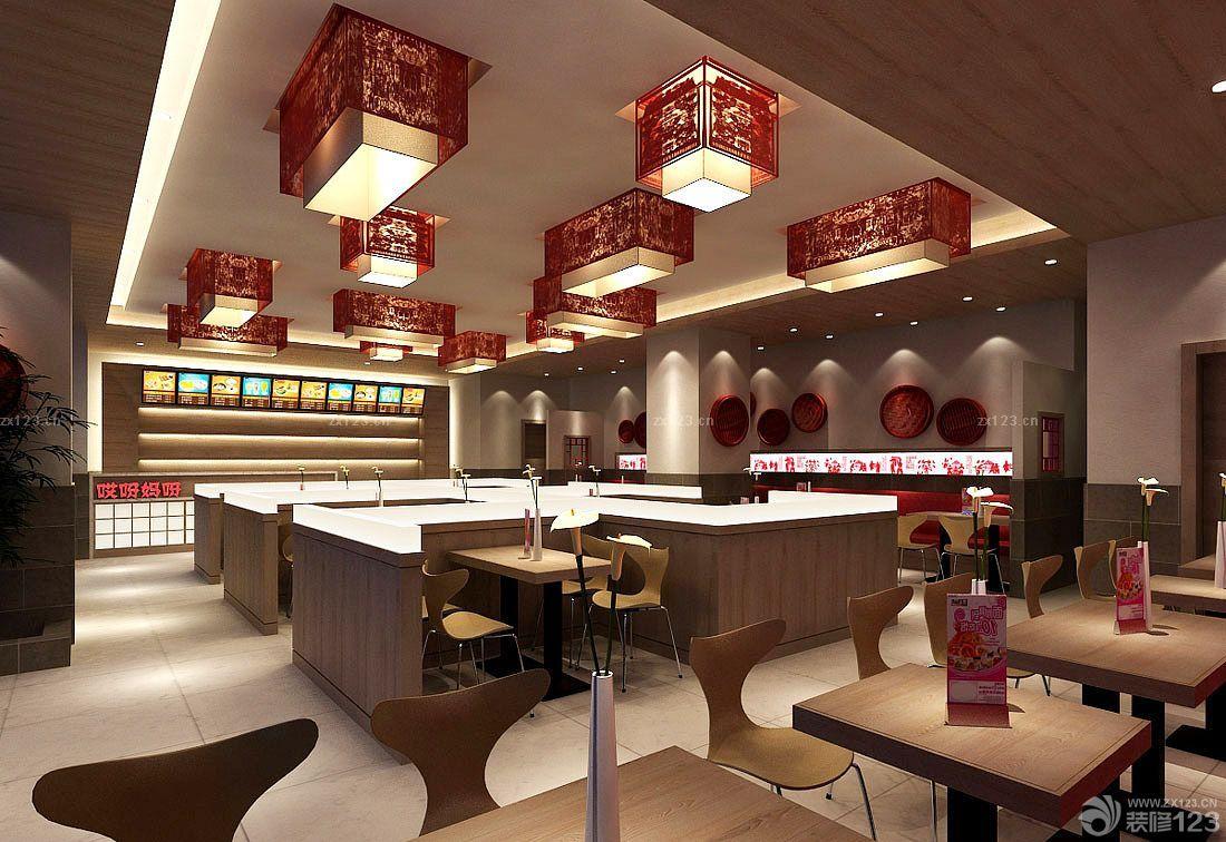 餐厅店面中式灯具装饰设计装修效果图图片
