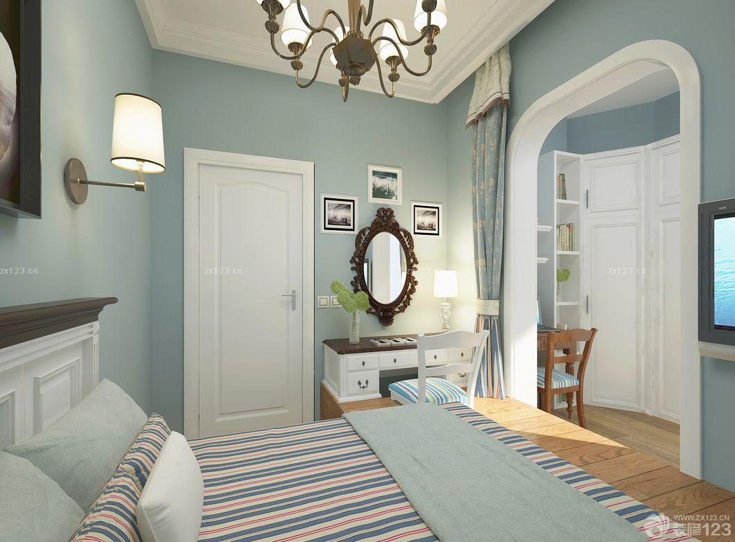 北欧卧室装修门颜色搭配效果图