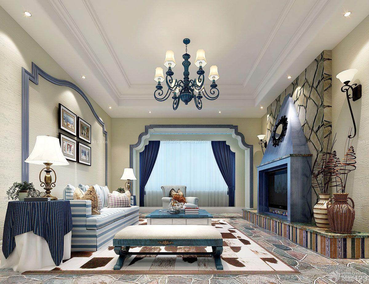 好看的客厅石膏板吊顶装修图片