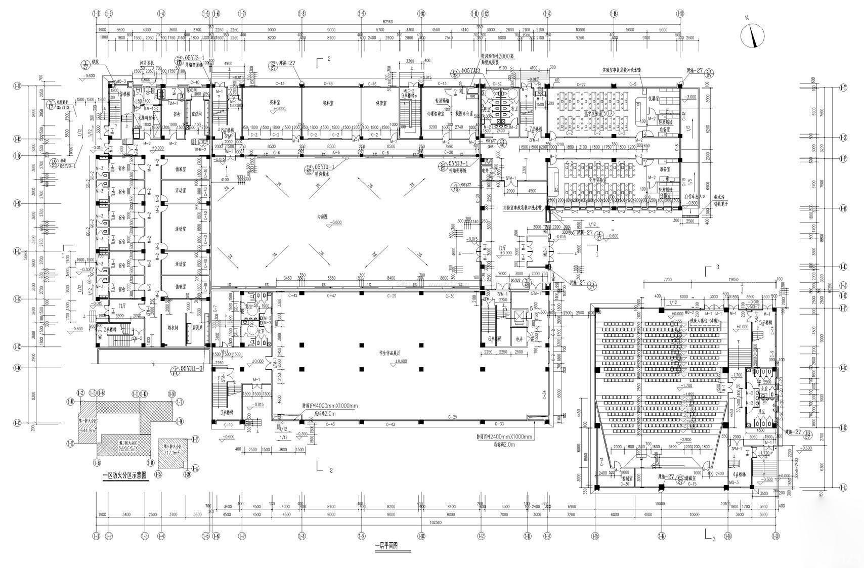 2015学校教学楼平面图设计