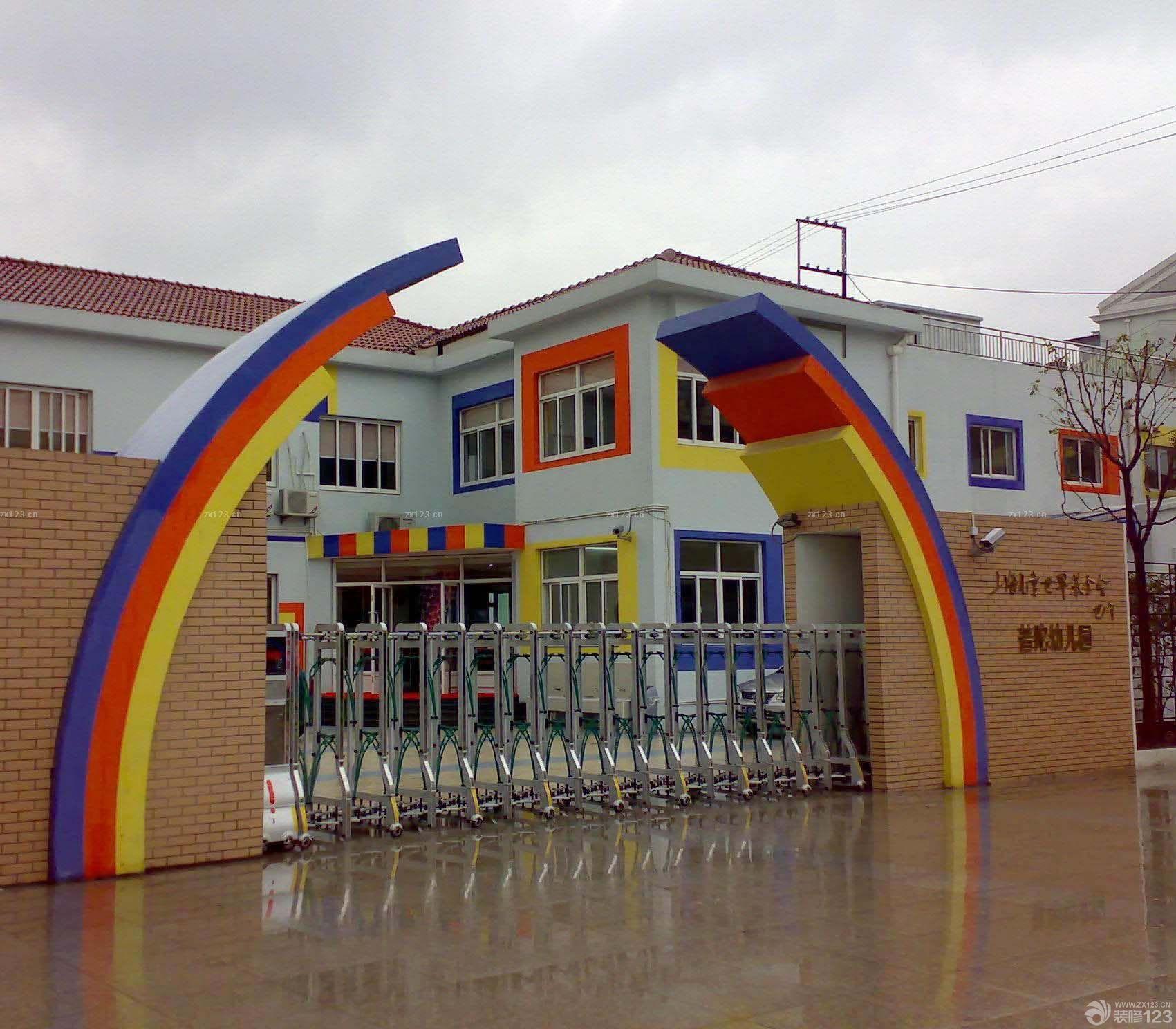 幼儿园学校大门创意设计图