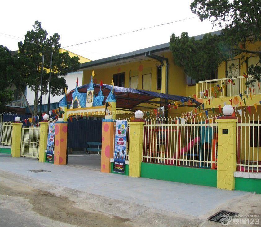 私立幼儿园学校大门设计图片大全