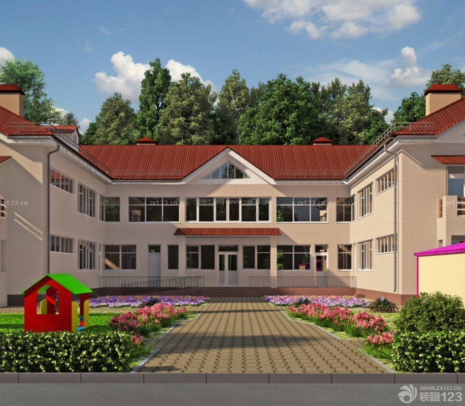 2015国外幼儿园学校大门设计图片大全