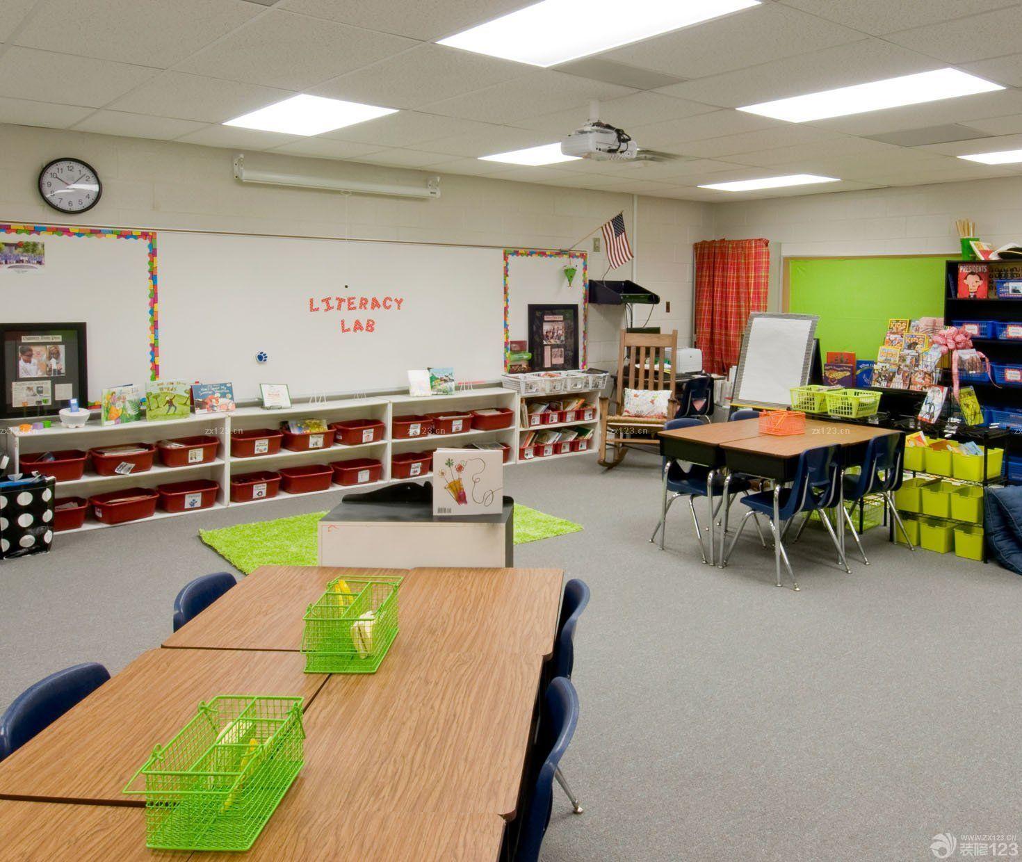 高中教室内墙面设计图片展示