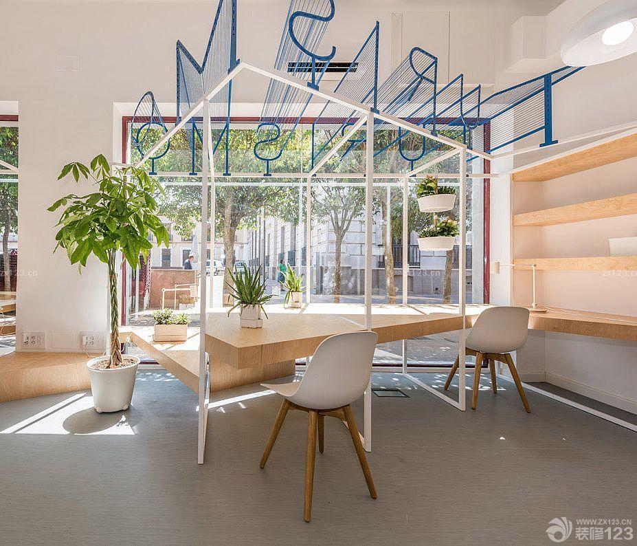 现代小办公室工作室吊顶设计图片