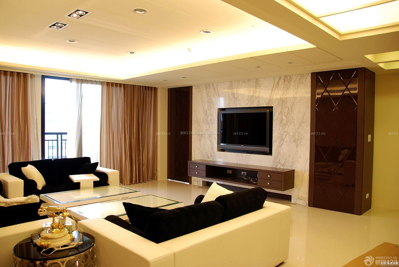 泰式客厅大理石电视背景墙装修效果图大全