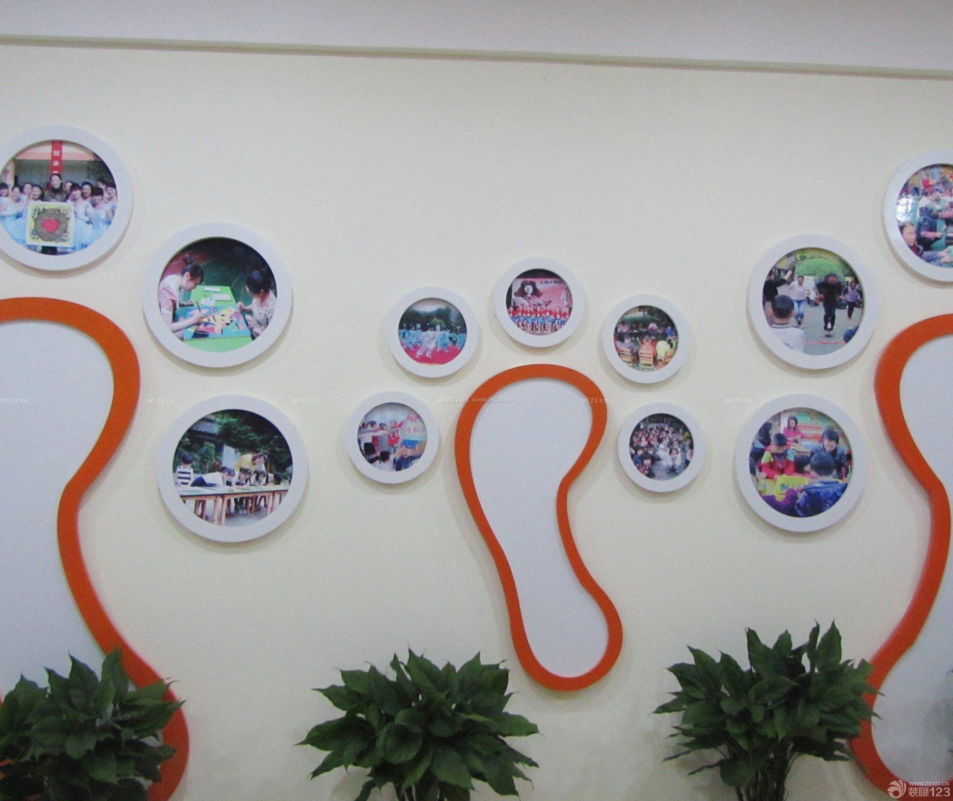 学校创意照片墙装饰设计效果图