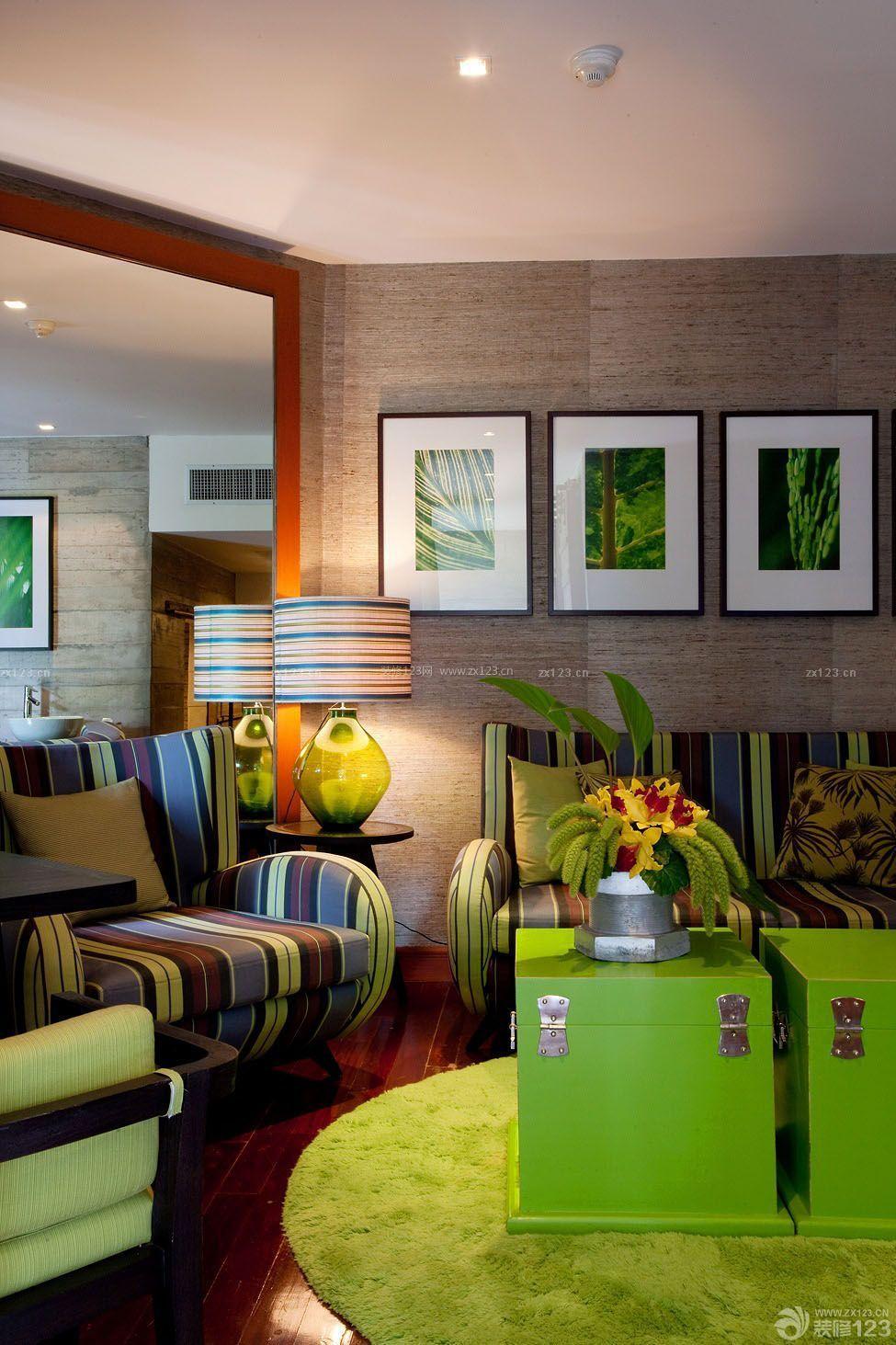泰式风格小户型室内客厅装修设计图片