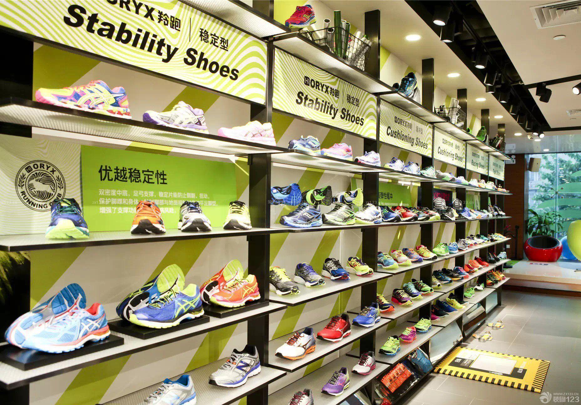 商场运动鞋店鞋柜装修设计图