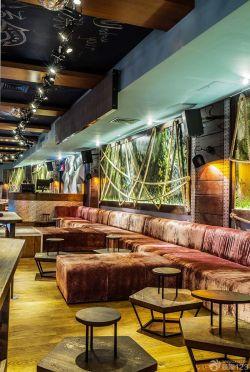 简约音乐酒吧吊顶灯装修设计效果图片