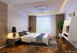 泰式装修风格卧室壁纸装修样板房