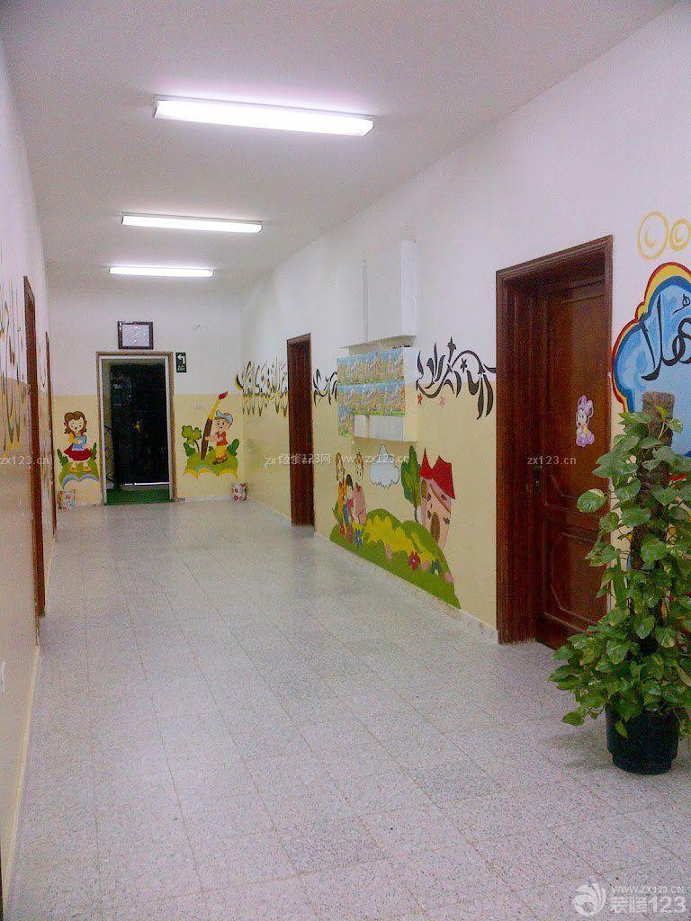 学校走廊地板砖装修效果图