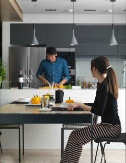 開放式廚房中島櫥柜裝修效果圖片