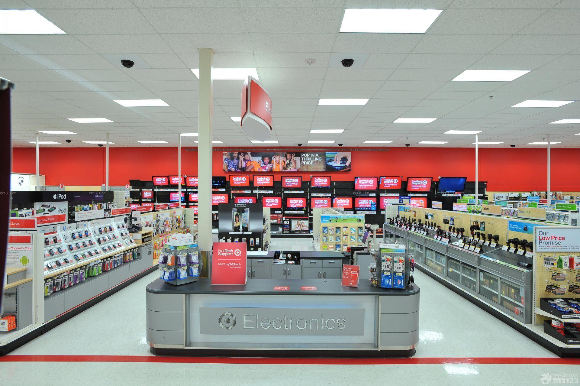 电器商场店面背景墙装饰装修效果图