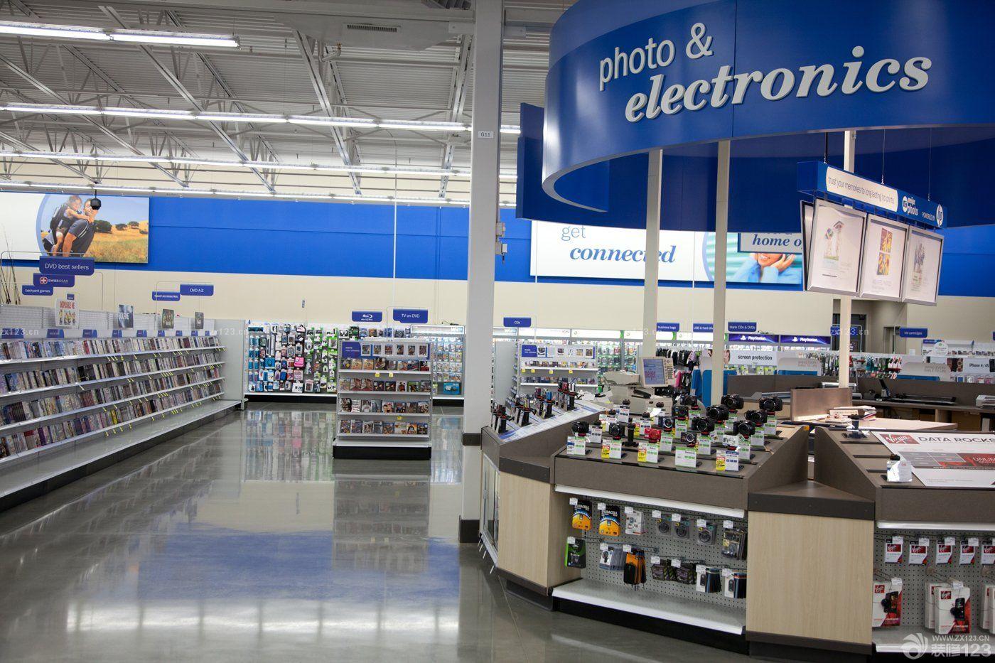 电器商场超市货架装修效果图