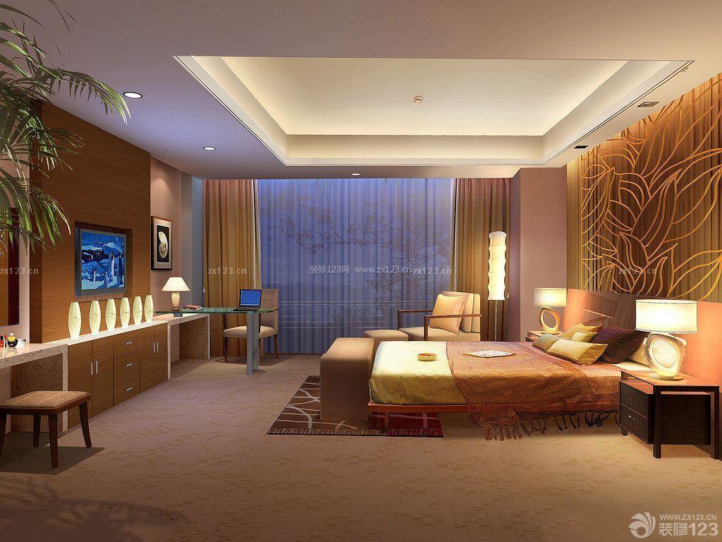 泰式卧室床头背景墙造型装修效果图图片