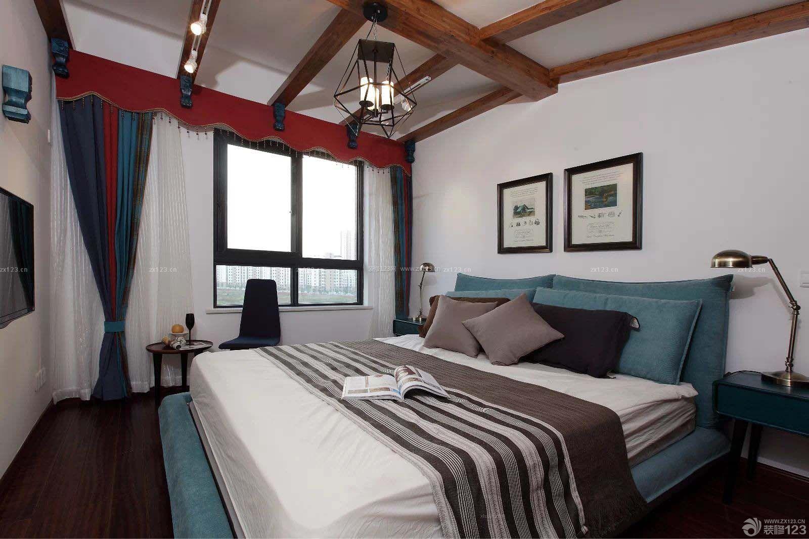 泰式精装修房屋卧室装修效果图图片