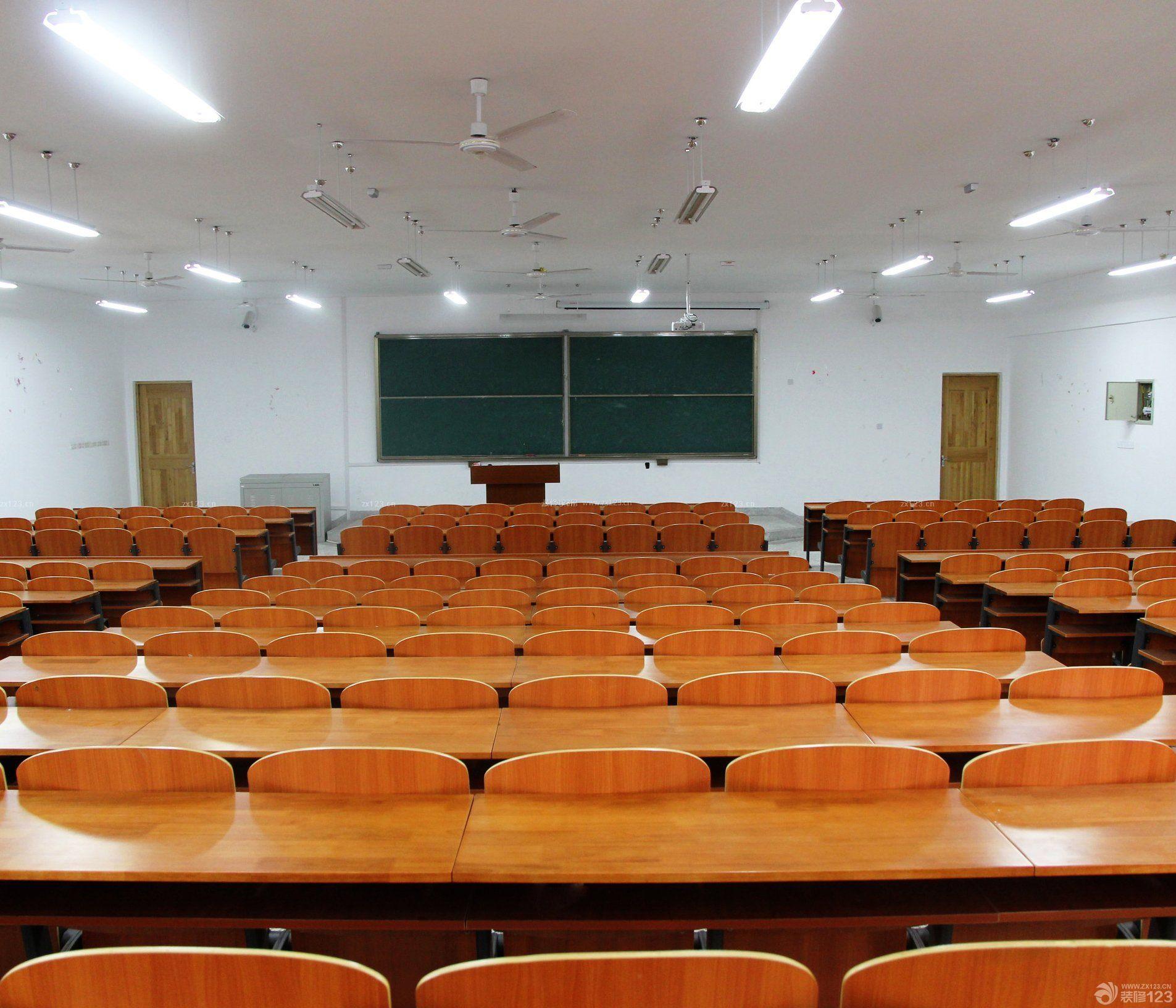 松江学校教室简约吊灯装修效果图片