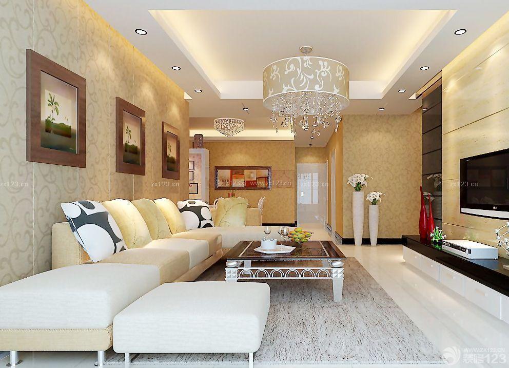 楼房客厅吸顶灯装修图片_装修123效果图