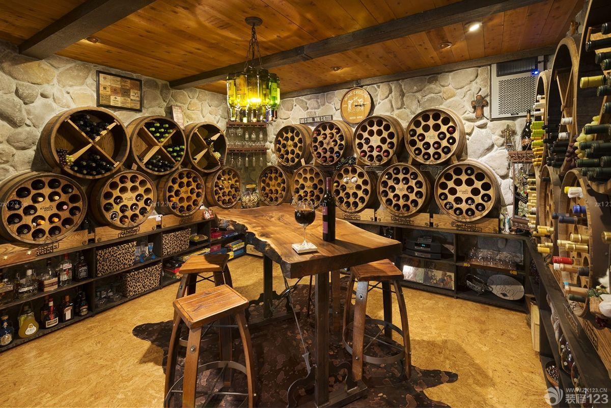 地下室漂亮的酒吧吧台设计效果图