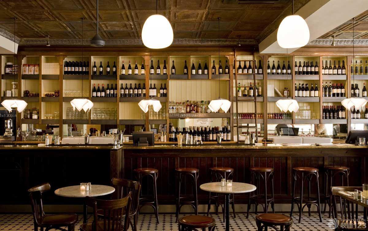 工业loft风格经典酒吧吧台装修效果图