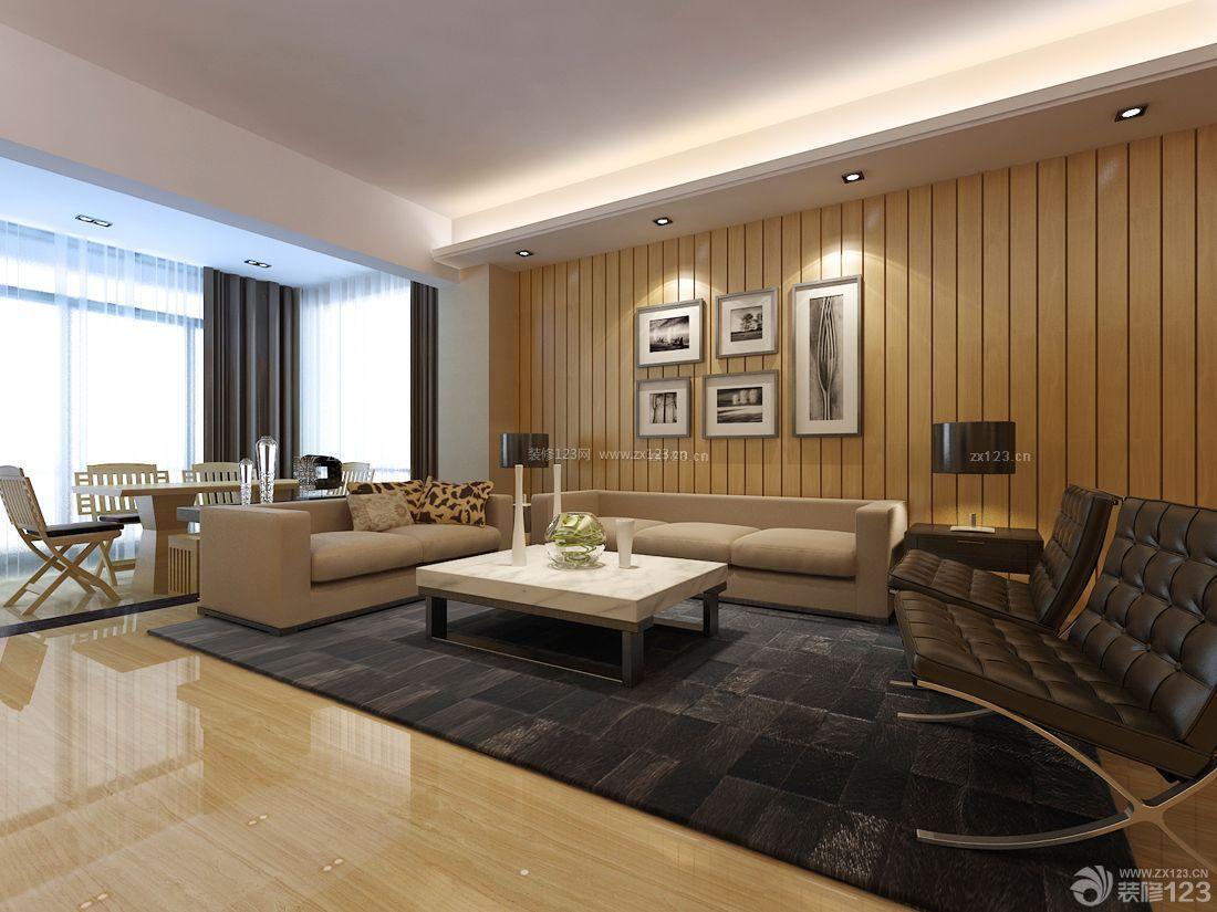 现代简约简约别墅设计客厅吊顶效果图