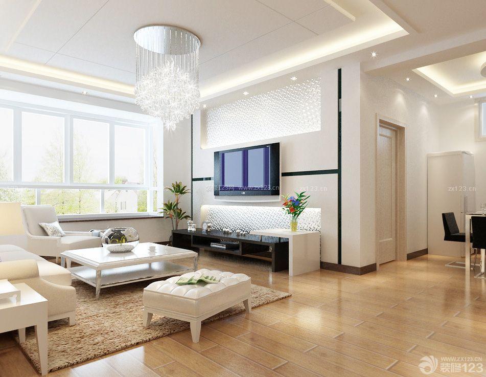 现代简约农村住房客厅吊顶设计效果图