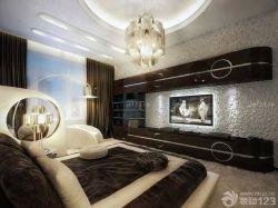 黑白室內裝潢臥室電視墻設計