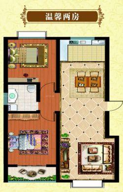 50平米两室一厅室内卧室装修设计效果图图片