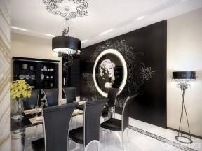 現代餐廳設計 黑白室內裝潢