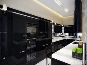 黑白室內裝潢 現代廚房設計