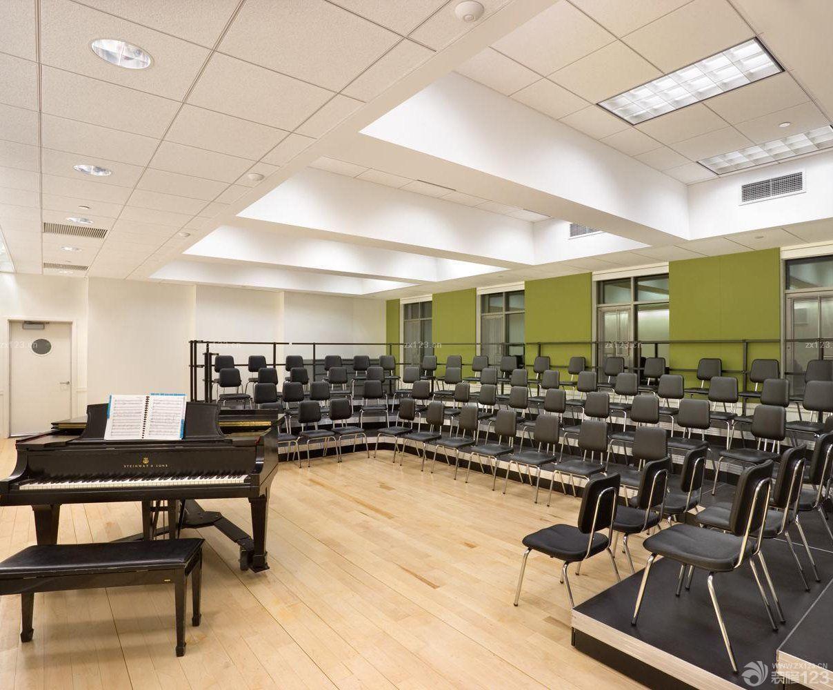 艺术学校教室装修设计图_装修123效果图