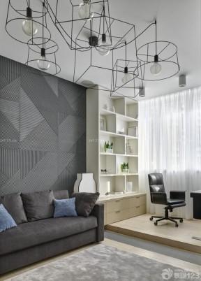 客廳沙發背景 黑白室內裝潢
