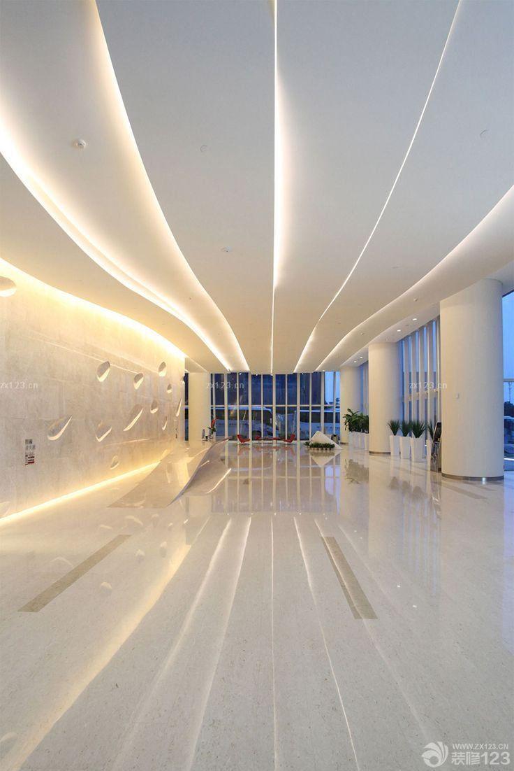 商场走廊铝扣板吊顶装修效果图
