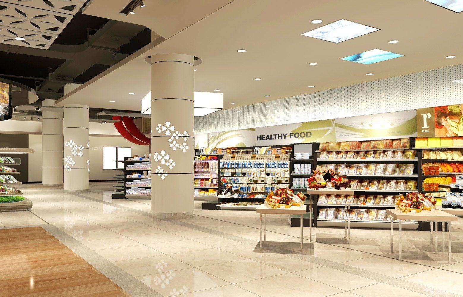 商场超市柱子装饰装修效果图片