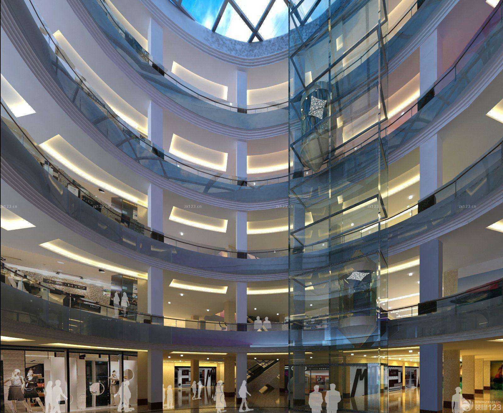 大型商场中庭设计效果图片