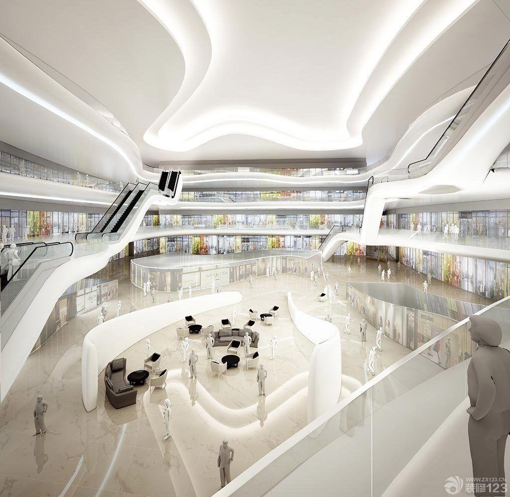 大型商场中庭吊顶造型设计效果图片