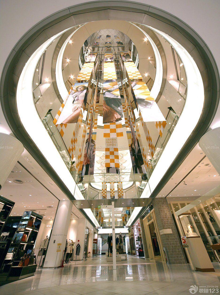 商场中庭柱子装饰设计效果图