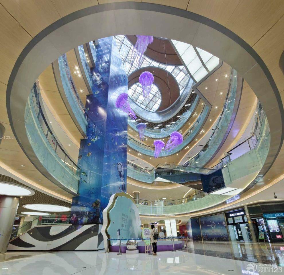 大型商场中庭圆形吊顶设计图