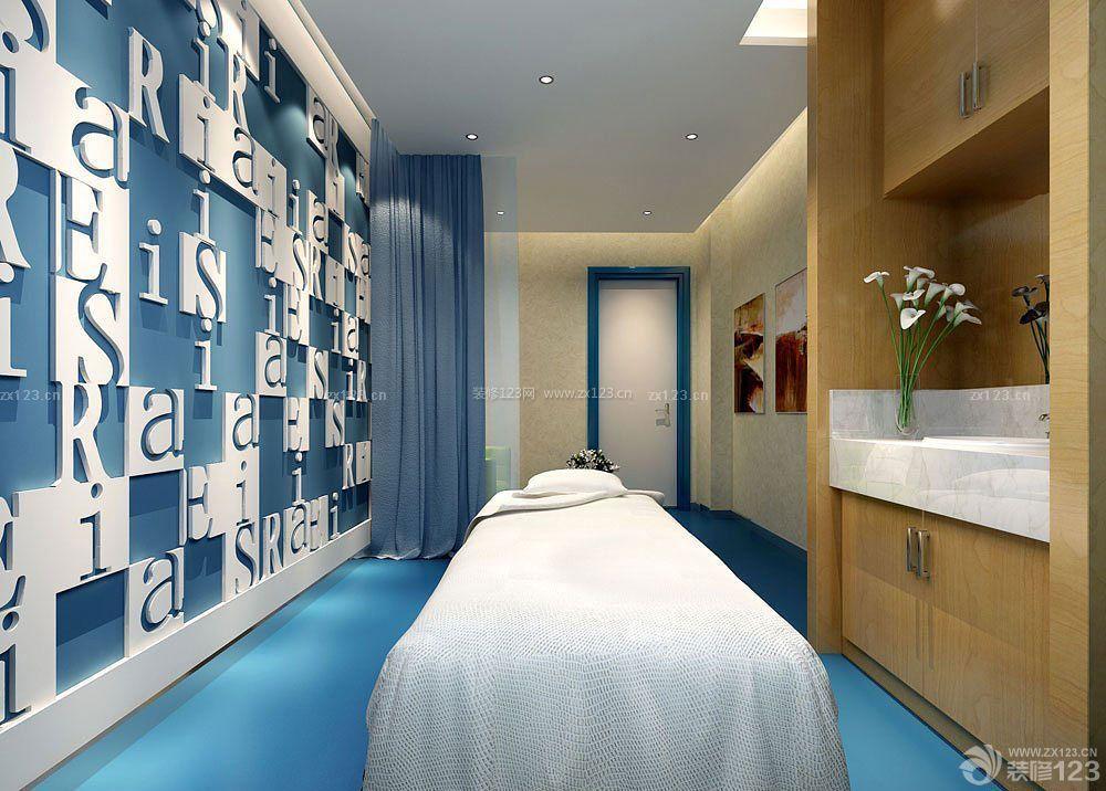美容院泰式风格logo形象墙装修图片