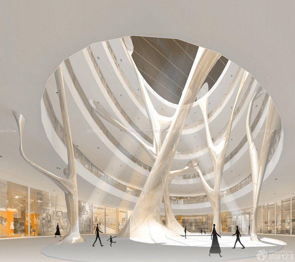 大型商场中庭吊顶造型装修设计效果图片
