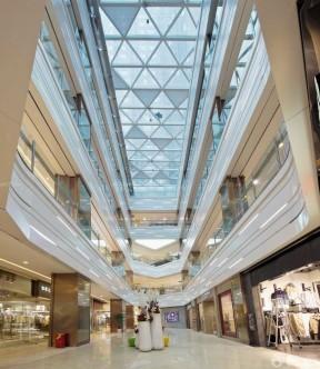 大型商场中庭吊顶装修设计效果图