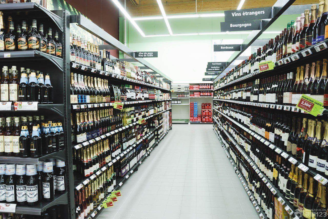 商场超市酒柜装修效果图大全