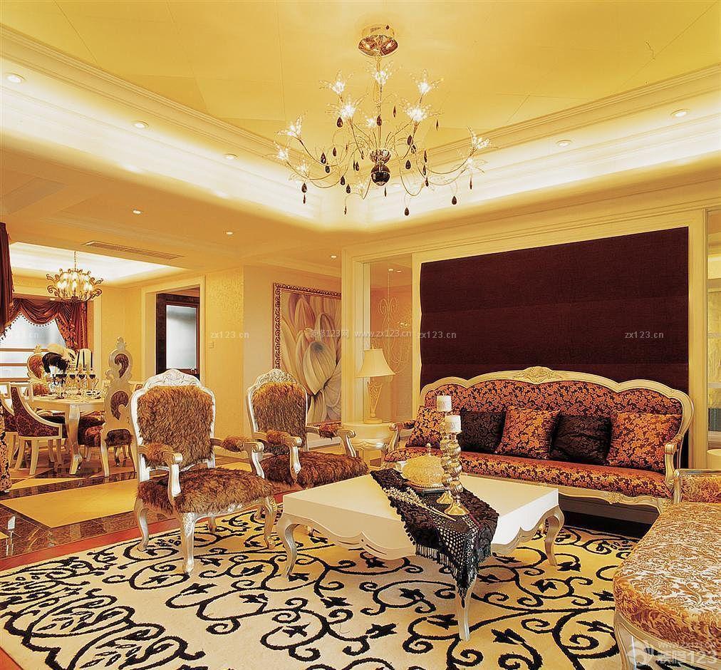 泰式客厅沙发摆放装修效果图片