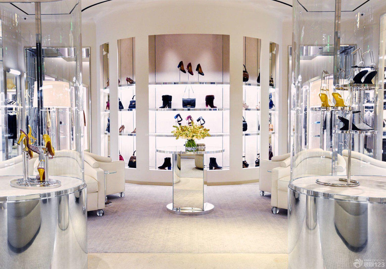 商场鞋柜设计图片_装修123效果图
