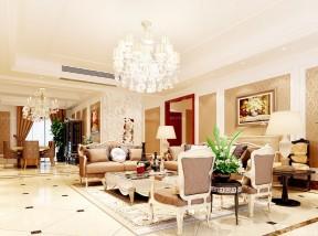 客厅横梁吊顶效果图 欧式风格装修图片