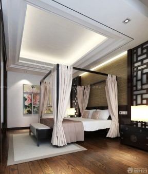 臥室設計圖片大全 中式臥室效果圖