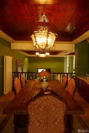 泰式餐廳裝修效果圖 木質吊頂裝修效果圖片